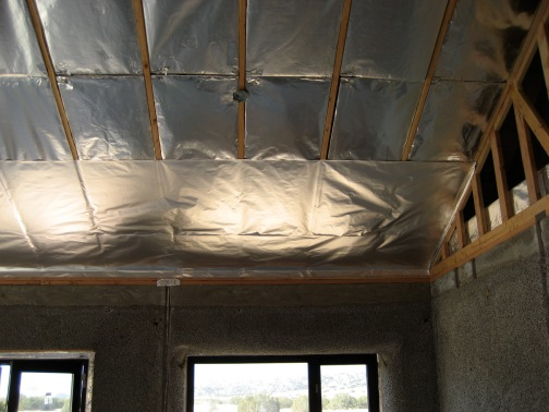 2 Denny foil going over wrapped insulation.JPG